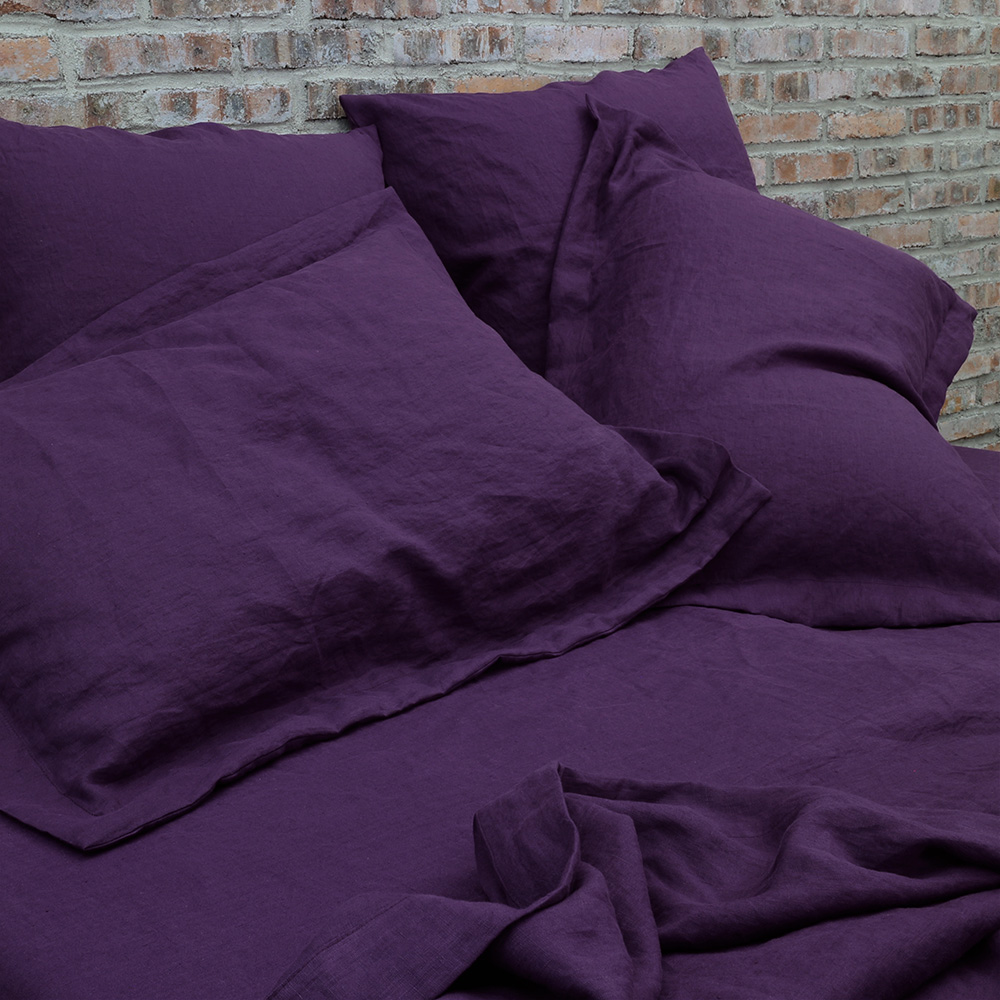 """Aubergine"" Linen Collection"